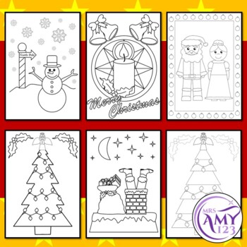 Christmas Colouring/Coloring Pages