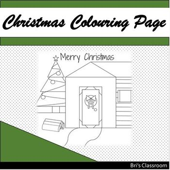 Christmas Colouring Page {FREEBIE}