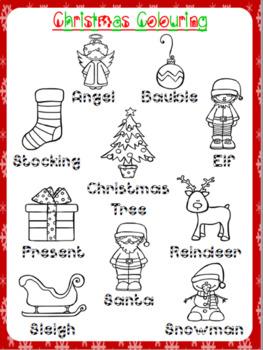 Christmas Colouring Worksheet | Free/Freebie