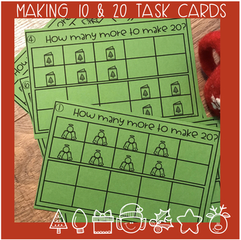 Christmas Combinations of 10 and 20 Task Cards