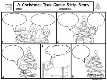 christmas comic strip template  Christmas Comic Strip Writing