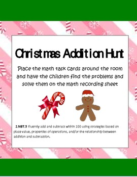 Christmas Common Core Addition Math Hunt