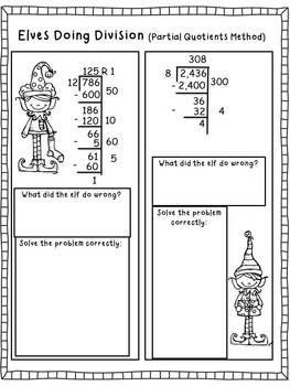 Christmas Common Core Division Math Printables and Centers