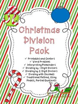 Christmas Math Activities and Centers for Division