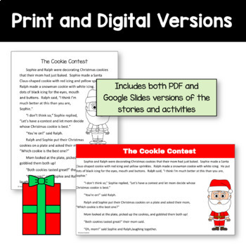 Christmas Common Core Literacy - Original Stories and Activities (4th grade)