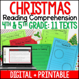 Christmas Reading Comprehension Passages and Activities {Just Print}