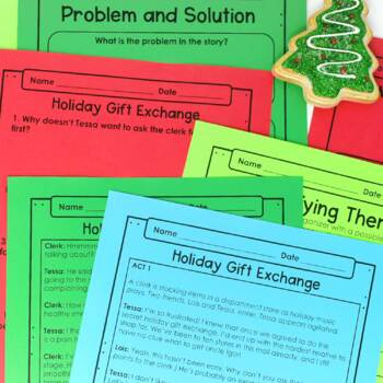 christmas reading comprehension passages and activities just print. Black Bedroom Furniture Sets. Home Design Ideas