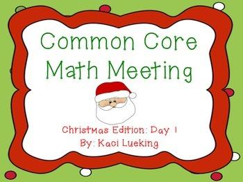 Christmas Common Core Math Meeting