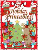 December Morning Work Christmas Math Common Core  Printables! grades 1-2