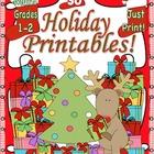 December Morning Work Christmas Math Common Core  Printabl