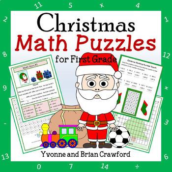 Christmas Math Puzzles - 1st Grade Common Core