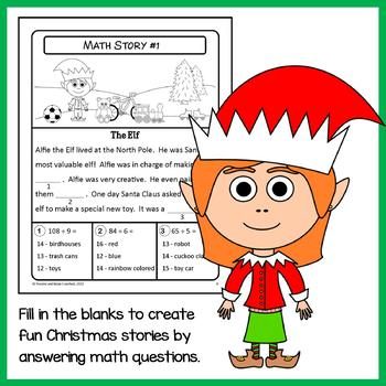 Christmas Math Puzzles - 4th Grade Common Core