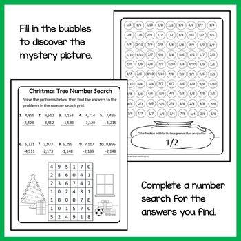 Christmas Math Puzzles - 4th Grade Common Core