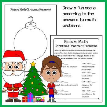 Christmas Math Puzzles - 5th Grade Common Core