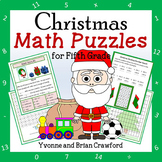 Christmas Math Puzzles - 5th Grade Common Core