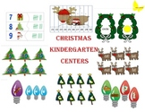 Christmas Common Core Math and Literacy Centers for Kindergarten