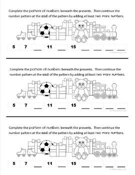 Christmas Math Journal Prompts (1st grade)