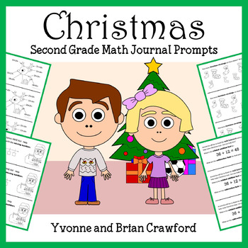 Christmas Math Journal Prompts (2nd grade)