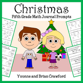 Christmas Math Journal Prompts (5th grade)