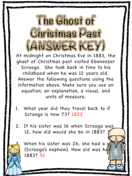 "Christmas Math Center: ""The Ghost of Christmas Past"""