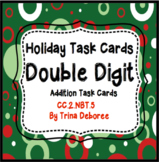 Christmas Math: Double Digit Addition Task Cards for Second Grade