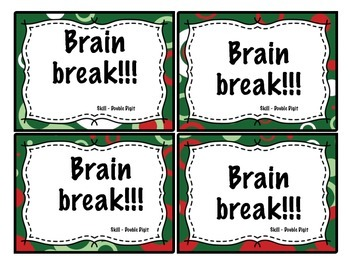 Christmas Double Digit Subtraction Task Cards 2.NBT.5 for Second Grade
