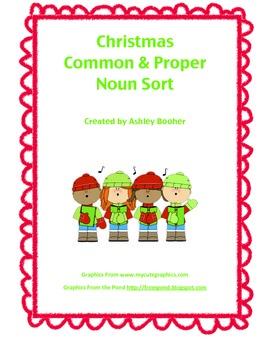 Christmas Common and Proper Noun Sort