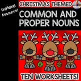 Christmas Common and Proper Nouns Worksheets