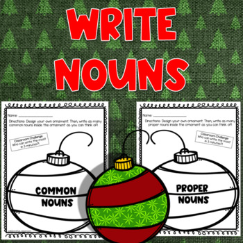 Christmas Common and Proper Noun Worksheets (4 in 1)