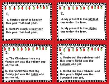 Christmas Comparative & Superlative Adjectives