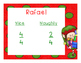 Christmas Comparing Fractions Review