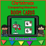 Christmas Comparing Numbers - Boom Cards