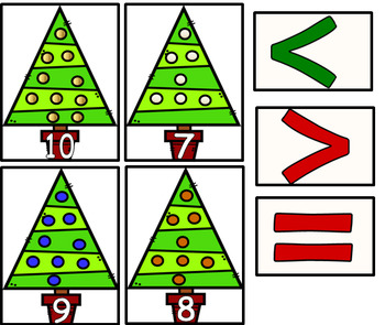 Christmas Comparing Numbers Mat