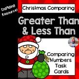 Christmas Math Comparing Numbers Task Cards (Greater Than/Less Than)