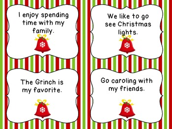 Christmas Complete or Incomplete Sentences Center Activities