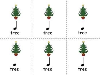 Christmas Composition Cards - Ta, Ti-Ti and So, Mi, La and Do