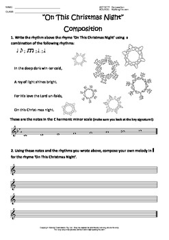 Christmas Composition Worksheet Collection