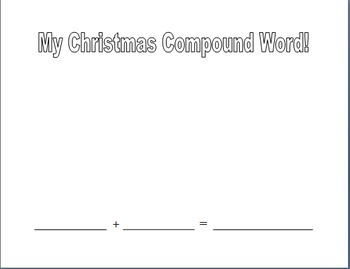 Christmas Compound Word Worksheets