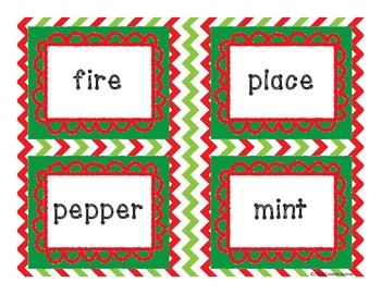 Christmas Compound Words - CCSS aligned Matching Activity