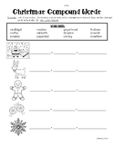 Christmas Compound Words Practice Worksheet