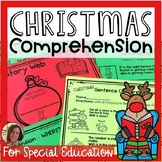 Christmas Comprehension for Special Ed | Special Education and Autism Resource