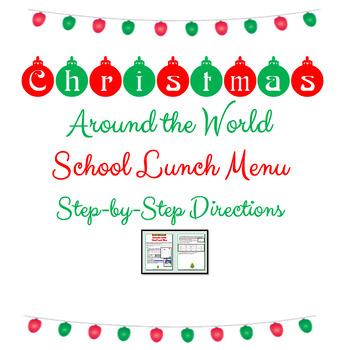 Christmas Computer Activities Christmas Around the World Lunch Menu Google Docs