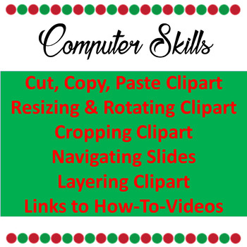 Christmas Computer Activities - Christmas Clipart Activity Grades 1-4