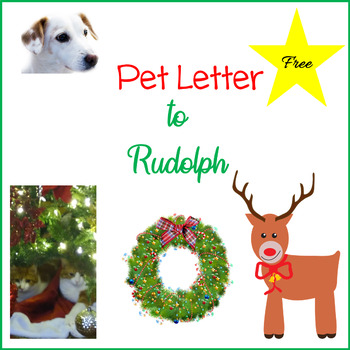 Christmas Computer Activities - Pet Letter to Rudolph - Free