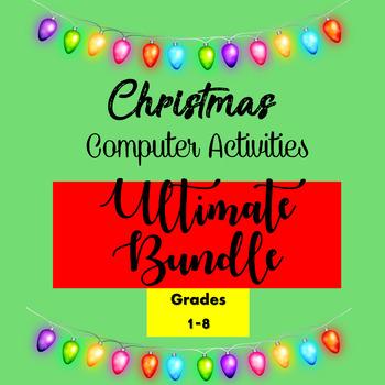 Christmas Computer Activities Ultimate Bundle Google Drive Activities