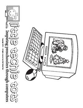 Computer Coloring Page:  Christmas