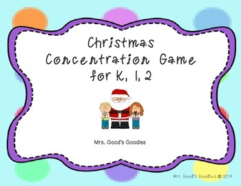 Christmas Concentration Game