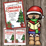 Christmas Concert Bundle - Program - Invitation and Poster - EDITABLE