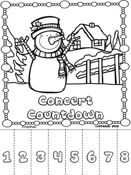 Christmas Concert Countdown Tear-Offs