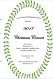 Christmas Concert Program, Editable, snowflakes- 180 names
